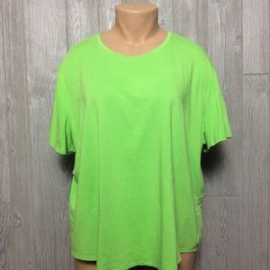 Lime Green Tee PLUS SIZE 3X